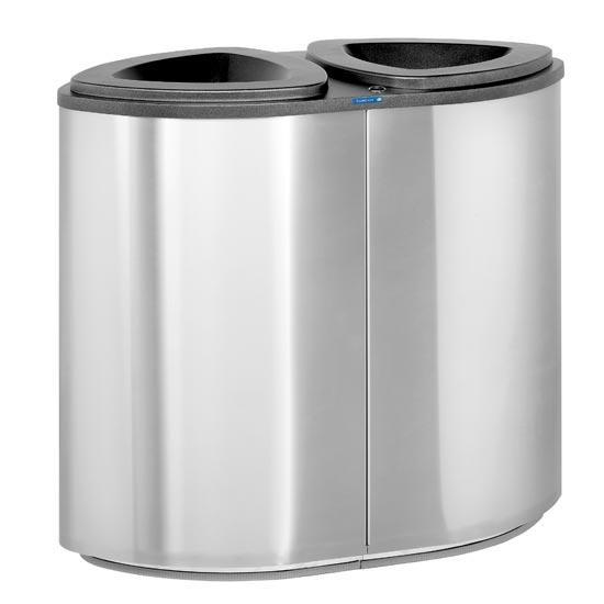 Урна для раздельного сбора 2 типов мусора FINBIN Bermuda 2