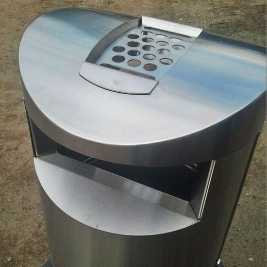 Нержавеющая уличная урна пепельница 100 литров ФИН БИН