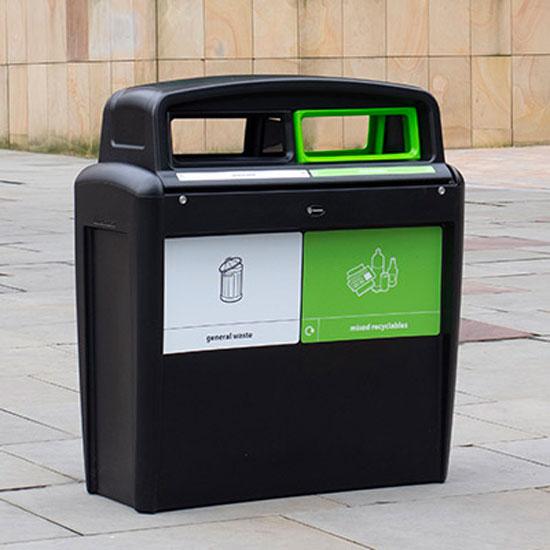 Уличные мусорные урны для раздельного сбора мусора EVO CITY DUO