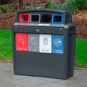 Урна для сбора 4 видов мусора GLASDON