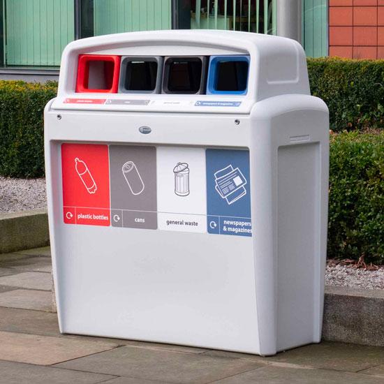 Урна для раздельного сбора мусора GLASDON Quard 4 типа мусора