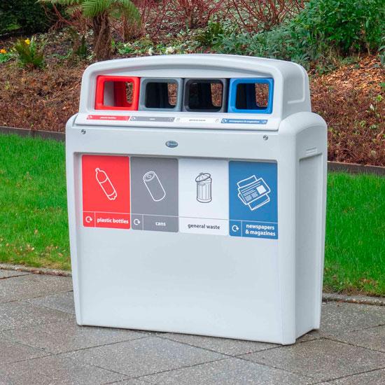 Уличная мусорная урна для сортировки GLASDON EVO Quard