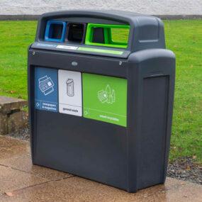 Уличная урна для 3 видов мусора NEXUS Trio Evo