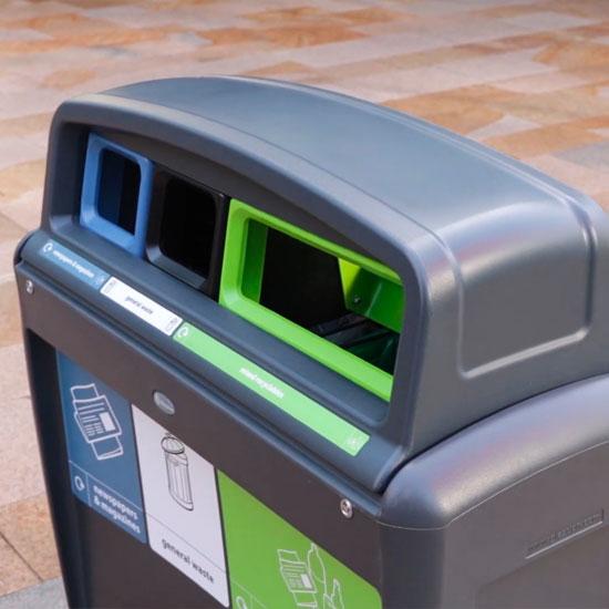 Антивандальный корпус мусорной урны Glasdon TRIO