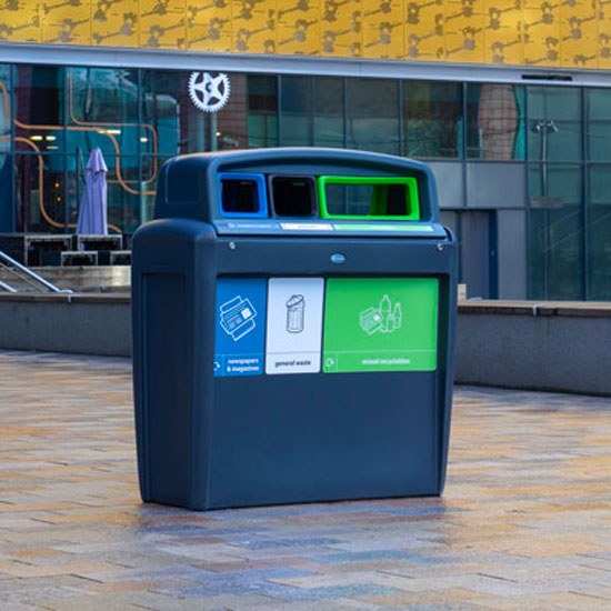Урна для раздельного сбора мусора GLASDON EVO TRIO